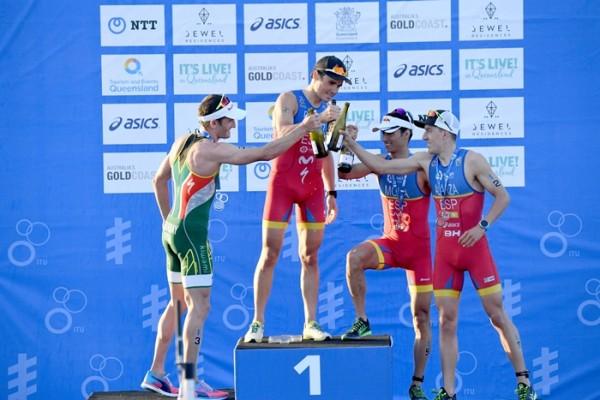 podium Gold Coast españoles