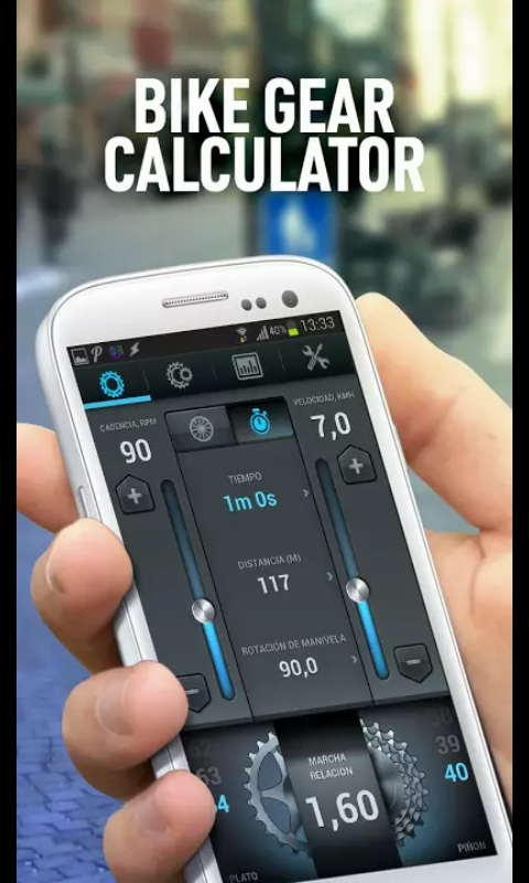 Captura de la App Gear Calculator