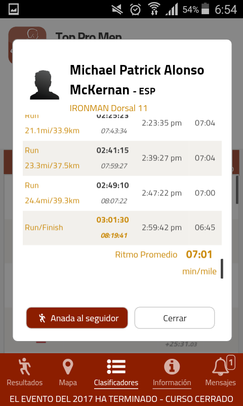 Captura de la App IM Tracker