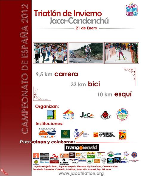 Cartel Triatln De Invierno Jaca Candanch 2012