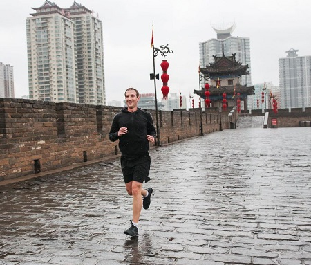 Marck Zuckerberd corriendo en China