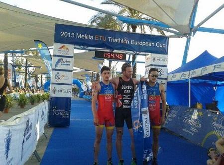 Podium masculino en triatlón Melilla
