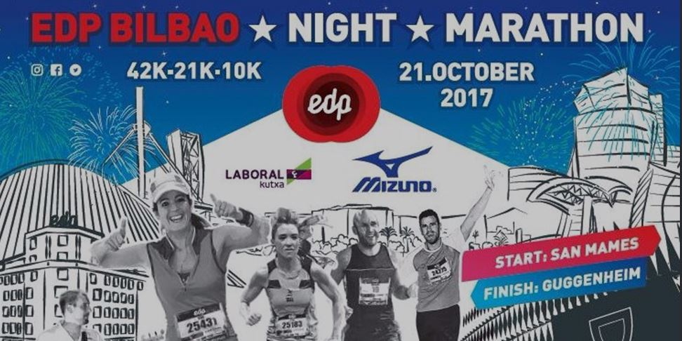 Cartel Bilbao Night Maraton 2017