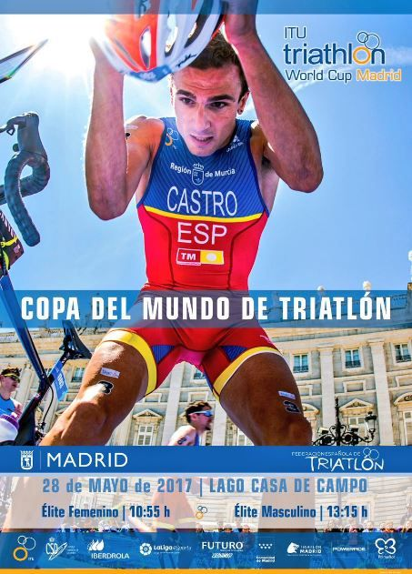 Cartel Copa del Mundo Triatlón Madrid 2017