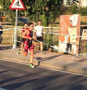 Javier Gómez Noya corriendo en Pontevedra