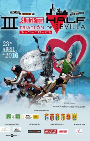 cartel Half Triathlon Sevilla 2016