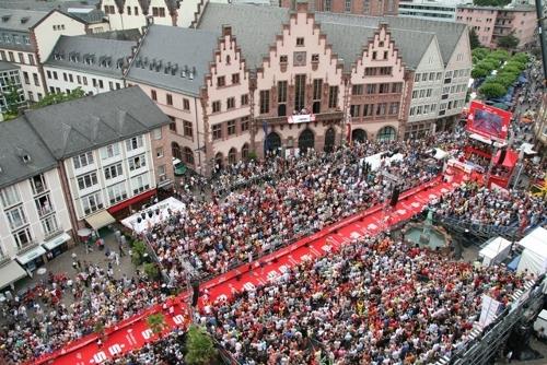 Meta del Ironman de Frankfurt