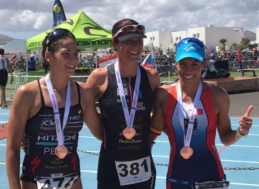 Podium Femenino Volcano Triathlon 2017