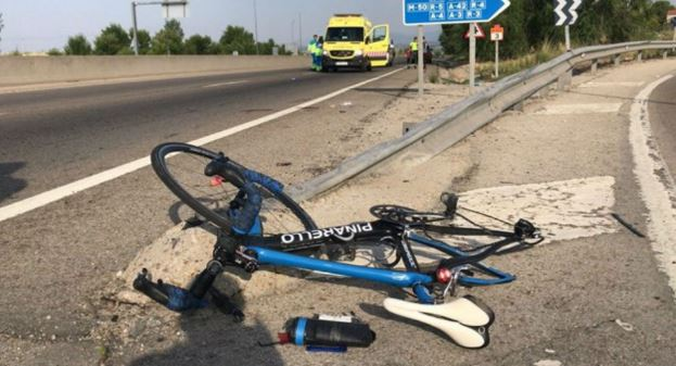 Accidente Ciclista  M505 Madrid