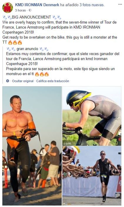 April Fool Lance Amstrong Ironman Dinamarca