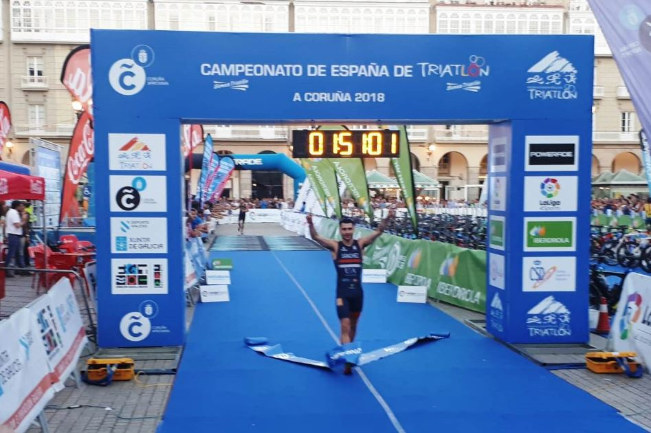 Roberto Sanchez Campeon Espana Triatlon