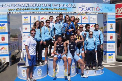 Galicia clara vencedora en el Campeonato de España de Duatlón por Autonomías