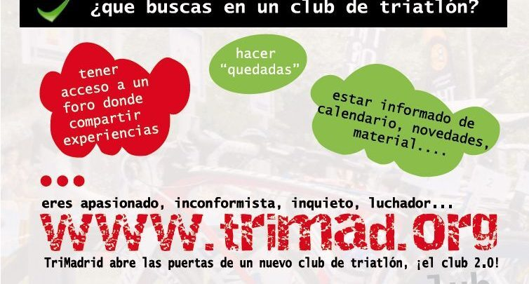 Become part of our club 2.0 TriMad, we have you