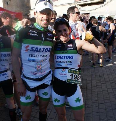 Raul Amatriain and Nuria Rodríguez Navarro Champions of Duathlon