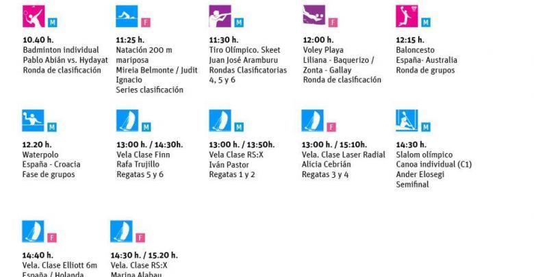 ¿Que puedes ver hoy 31 de Julio en los Juegos Olímpicos?