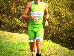 """Photo of Gustavo Rodríguez, """"I have a thorn in my neck from doing a long distance triathlon"""""""