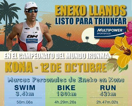 How does Eneko Llanos feed in his preparation for Kona?