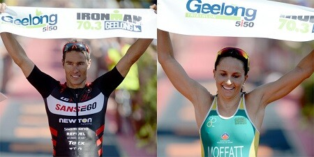 Craig Alexander and Emma Moffat win in the ironman 70.3 of Geelong