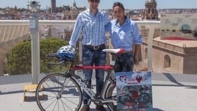 Josemi perez y Maria Pujol en el Half Traitlón de Sevilla