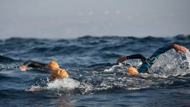 Photo of Several triathletes will cross the Strait of Gibraltar by swimming.