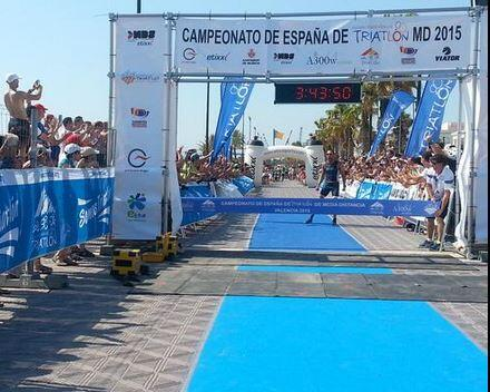 Emilio Aguayo campeón de Espaá de Triatlón MD
