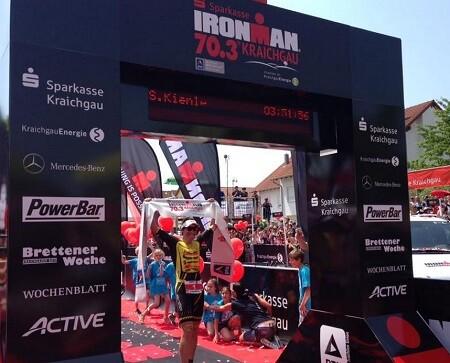Sebastian Kienle ganando en el ironman 70.3 de Kraichgau