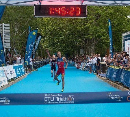Foto von David Castro, Europameister im Sub 23 Triathlon in Banyoles