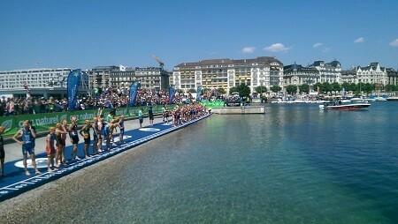 Salida de la natación en Ginebra