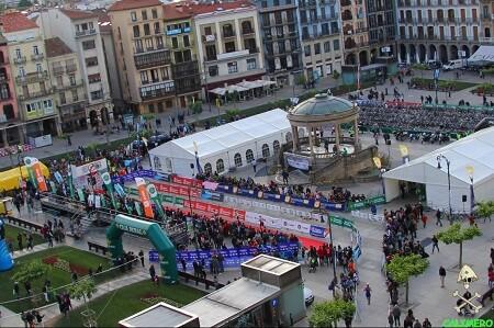 Zona de meta del Half Triathlon Pamplona