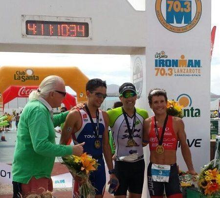 Podium Masculino Ironman 70.3 Lanzarote