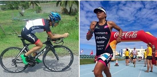 Gurutze Frades y Saleta Castro en el Ironman Malasya