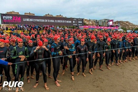 Salida del Pure Triathlon