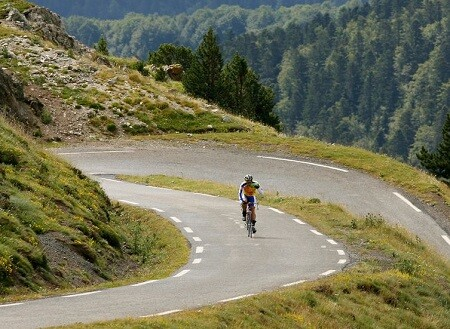 Subida de ciclismo Altriman