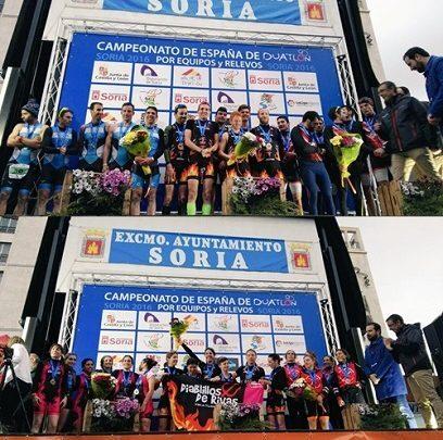 Diablillos de Rivas Doblete Campeonato España Duatlón Relevos 2016