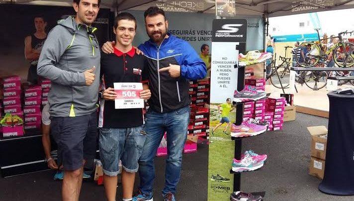 Esteban stand Skechers Ironman lanzarote