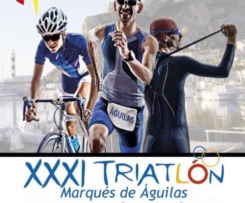 Cartel Triatlón Aguilas 2016, Campeonato España Triatlón sprint