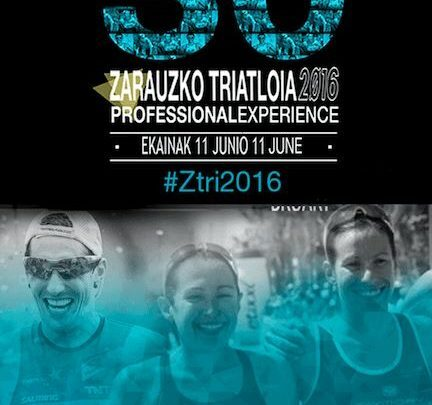 cartel Triatlón Zarautz 2016