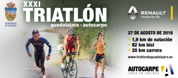 Cartel Triatlón Guadalajra 2016