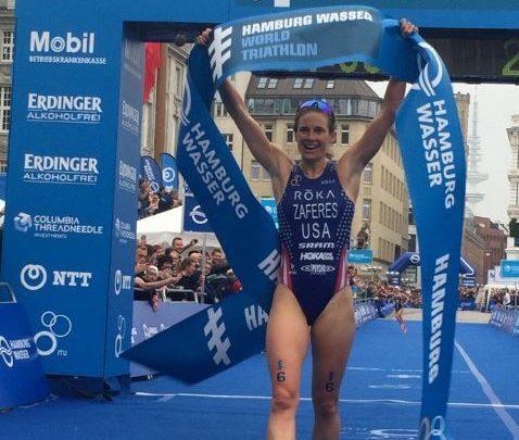 Foto von Katie Zaferes Gewinnerin in Hamburg. Carolina Routier beendet 13º