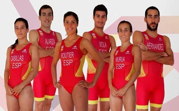 La selección española de triatlón en los juegos olimpicos de rio