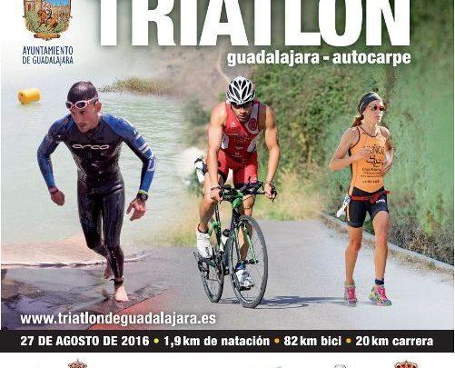 Cartel Triatlón de Guadajalara 2016