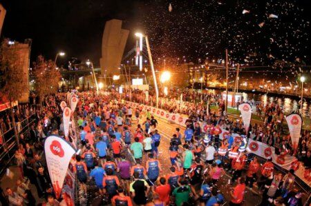 Llegada del Bilbao Nigth Marathon