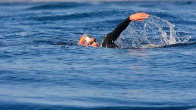 Photo of David Meca crosses the Strait of Gibraltar again in winter