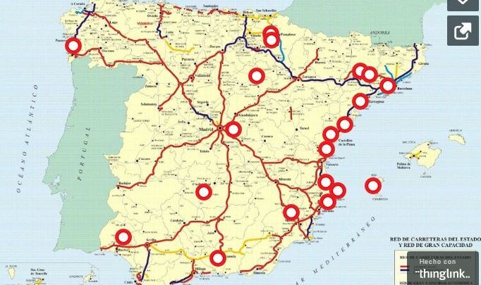 Map Of Tour Of Spain 2017.Map Of The Black Spots For Cyclists In Spain Triathlon News