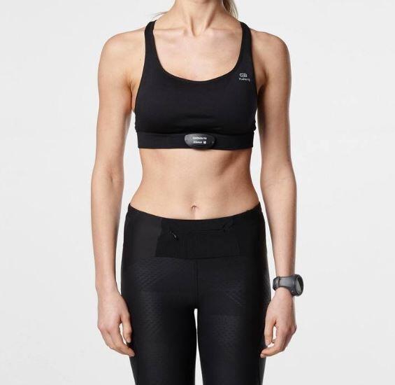 Women's heart sensor bra