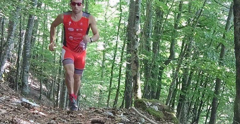 Photo of Rubén Ruzafa for the fourth World Trialton Cros title.