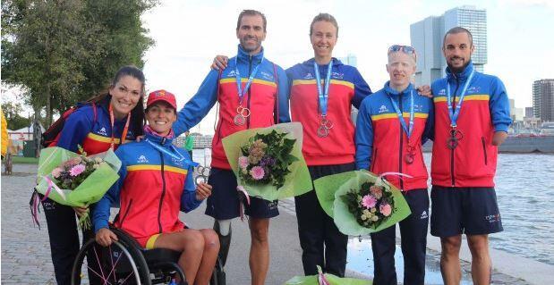 Quatre médailles pour la paratriarmada à la grande finale de Rotterdam