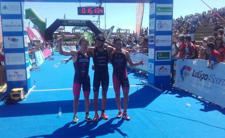 Men's Podium Championship Spain triathlon 2017