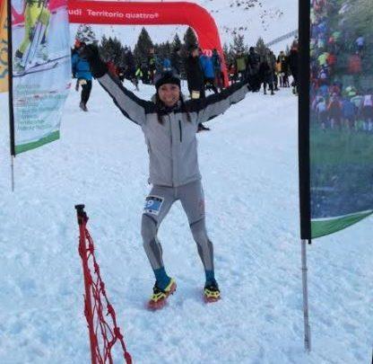 La triatleta Alba Reguillo Campeona de España de Snowrunning