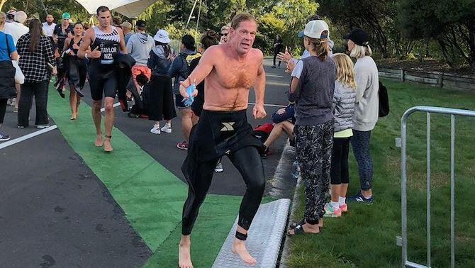 Ken Glah, the super man who achieved his qualification for the Hawaii Ironman for the 35th consecutive time